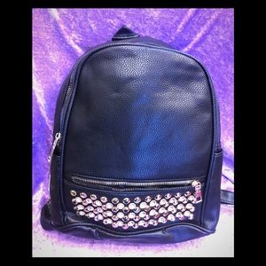 Gorgeous black backpack with stones on sale 🎒